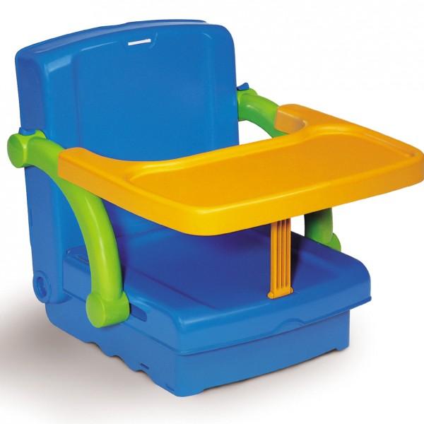Ülésmagasító tálcával, kék-narancs-zöld