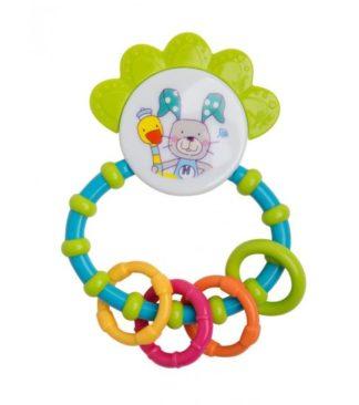 Rotho Babydesign Rágóka, 4 darab csörgővel