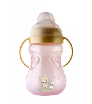 Rotho Babydesign Duplafülű tanuló itató, rózsaszín, 300 ml