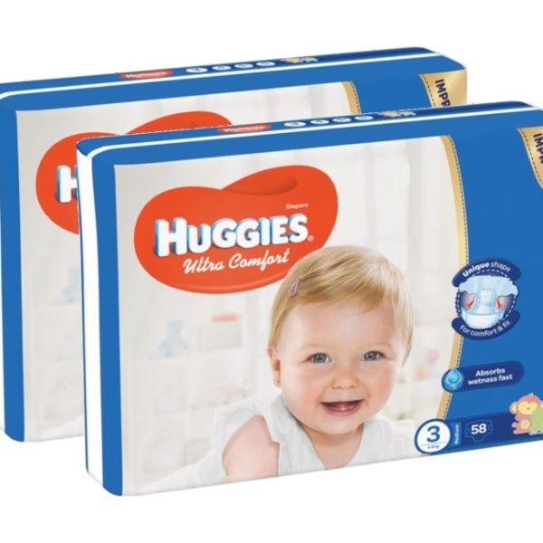 Huggies Ultra Comfort (3) nadrágpelenka, 5-8 kg, 116 darab