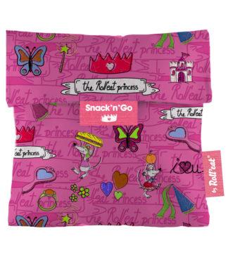 Snack'n'Go KIDS Hercegnő rózsaszín ételtároló tasak