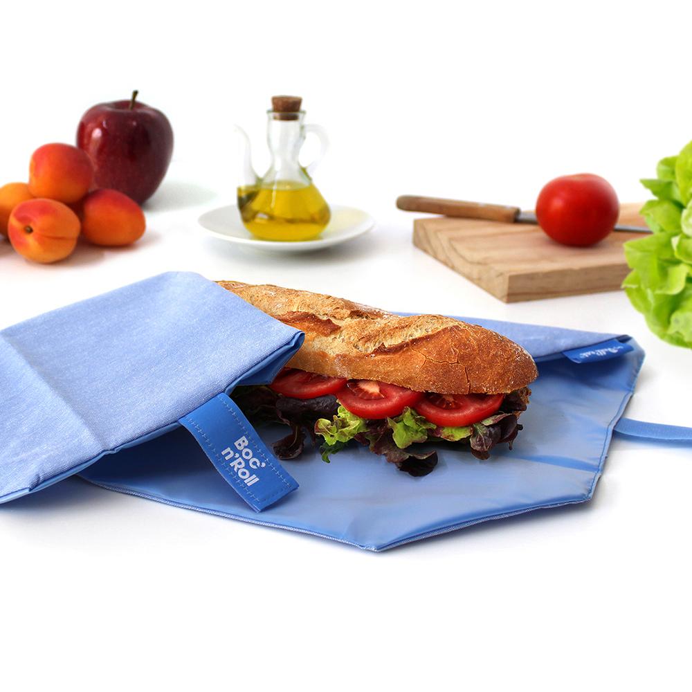 díszcsempe szendvicscsomagoló, kék