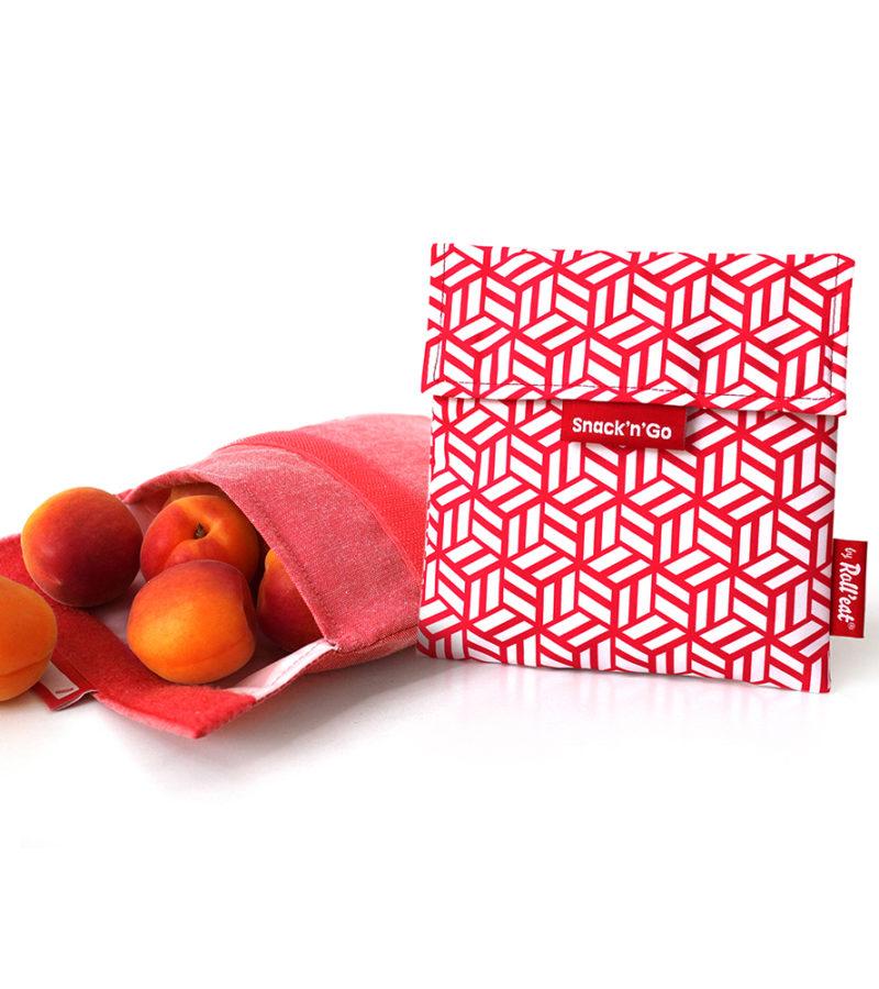 Snack'n'Go DíszCsempe Piros ételtároló tasak