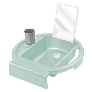 Rotho Babydesign Gyermekmosdó, svéd zöld-fehér-betonszürke, Kiddy's Wash