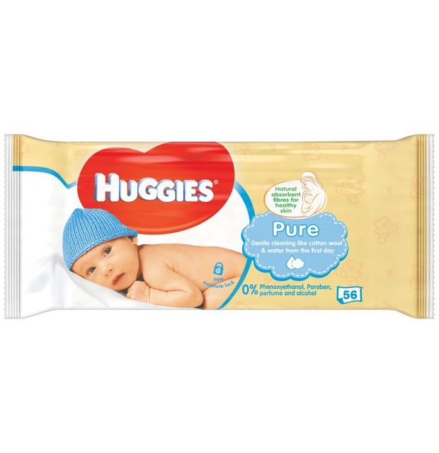 HUGGIES® Pure Single törlőkendő, 56 db