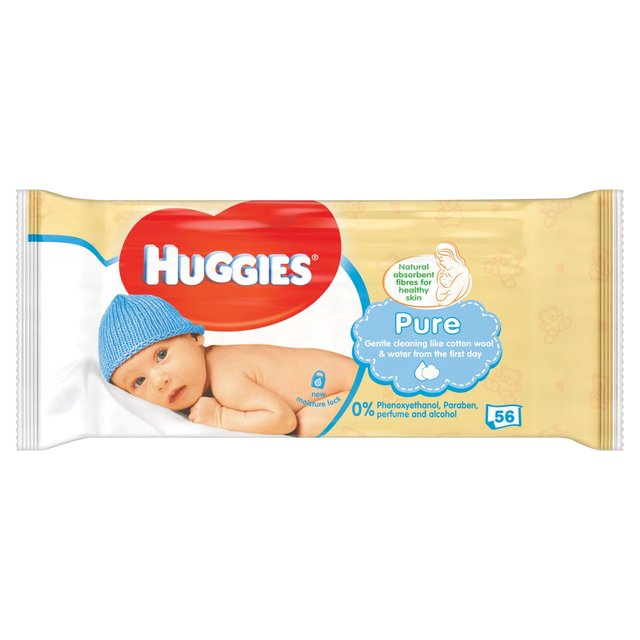HUGGIES® Pure Single törlőkendő, 56 db