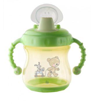 Rotho Babydesign Tanuló itatópohár, csöpögésmentes, világoszöld/vanília