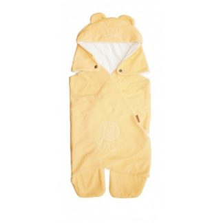 Nyári babapólya kapucnival, sárga oroszlán