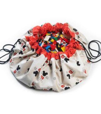 Play&Go Játéktároló zsák és játszószőnyeg - Cool Mickey