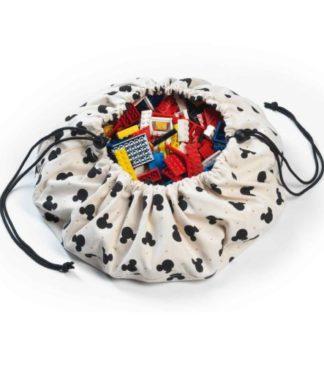 Play&Go Játéktároló zsák és játszószőnyeg - Mini Mickey, 40 cm
