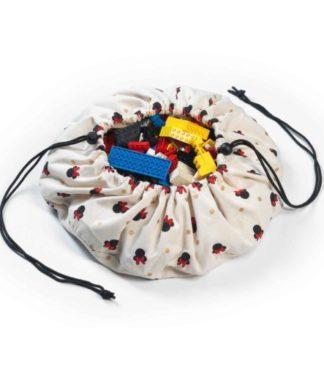 Play&Go Játéktároló zsák és játszószőnyeg - Mini Minnie, 40 cm