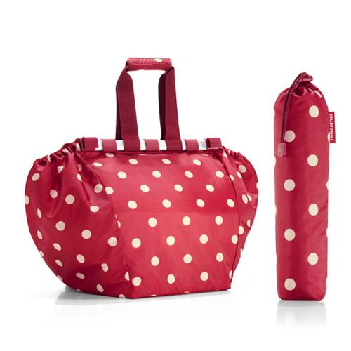 Reisenthel bevásárlótáska, piros pöttyös (easyshoppingbag)