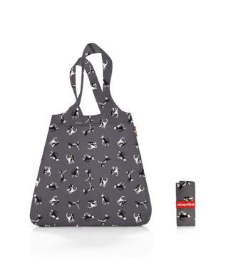 Reisenthel bevásárló szatyor, grafit macska (mini maxi shopper)