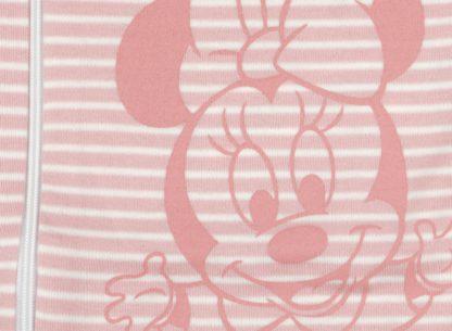 Hálózsák, hosszú ujjú, bio pamut, Disney Minnie rózsaszín csíkos mintával