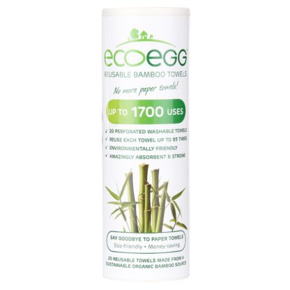 ECOEGG bambusz törlőkendő, 20 db