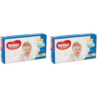 HUGGIES® Ultra Comfort JUMBO (3) nadrágpelenka, 5-8 kg, 2 x 56 darab