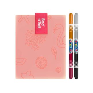 Boc'n'Roll PAINT Flamingó, rajzolható szendvicscsomagoló