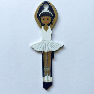Balerina alakú kulcs, fehér, nyerskulcs