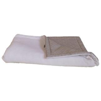 NOLA Kétoldalas takaró és hempergő egyben, ezüstszürke