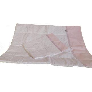 NOLA Kétrészes babaágynemű garnitúra, rózsaszín csillag