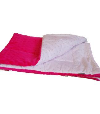 NOLA Kétoldalas takaró és hempergő egyben, rózsaszín csillag