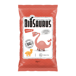 "Kukoricás Snack, Ketchupos ""BIOSAURUS BABE"", BIO 50g"