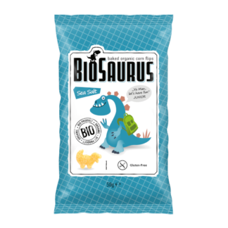 "Kukoricás Snack, Tengeri Sós ""BIOSAURUS JUNIOR"", BIO, 50g"