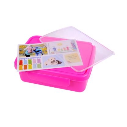 Hygi doboz, belső elválasztóval, rózsaszín