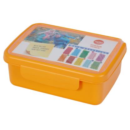 Hygi doboz, belső elválasztóval, narancs